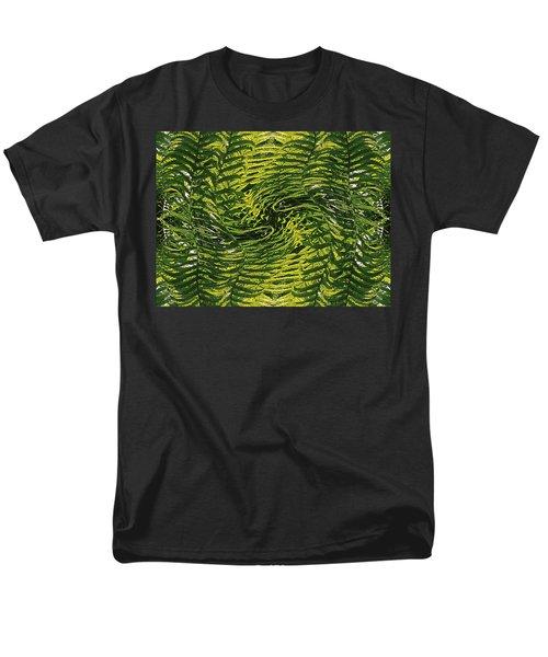 Men's T-Shirt  (Regular Fit) featuring the photograph Fiddlehead Fern Wild Frenzy by Joy Nichols