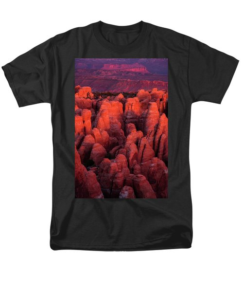 Men's T-Shirt  (Regular Fit) featuring the photograph Fiery Furnace by Dustin LeFevre