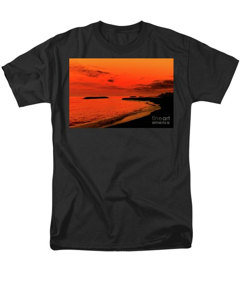 Fiery Lake Sunset Men's T-Shirt  (Regular Fit) by Randy Steele
