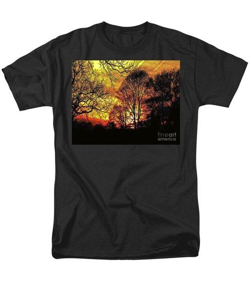 Fiery Red Sunset Men's T-Shirt  (Regular Fit) by Carol F Austin