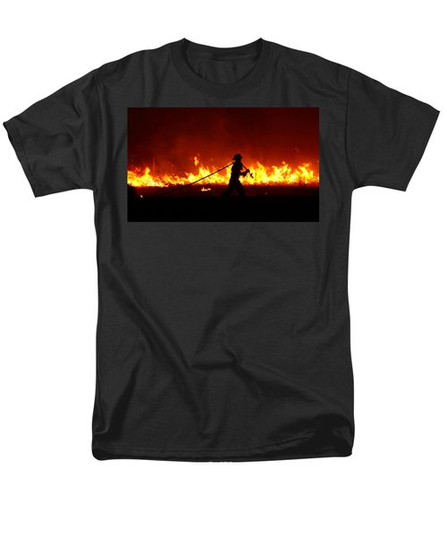 Fighting The Fire Men's T-Shirt  (Regular Fit) by Linda Unger