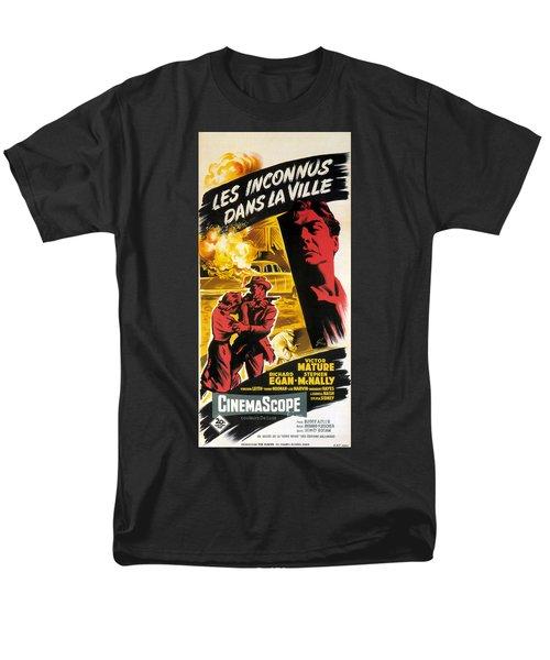 Film Noir Poster   Violent Saturday Men's T-Shirt  (Regular Fit) by R Muirhead Art