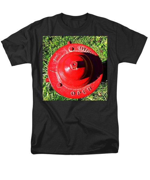 Fire Hydrant #8 Men's T-Shirt  (Regular Fit) by Suzanne Lorenz