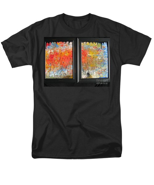 Men's T-Shirt  (Regular Fit) featuring the painting Fire On The Prairie by Jacqueline Athmann