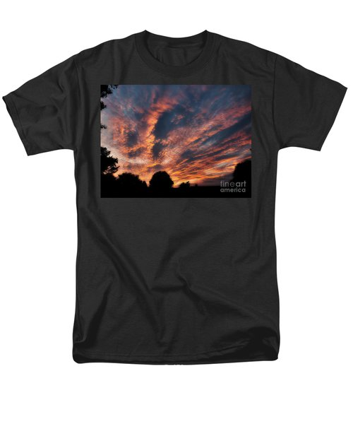 Fire Swept Sky  Men's T-Shirt  (Regular Fit) by Christy Ricafrente
