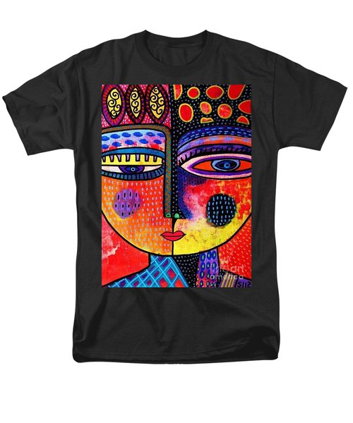 Fire Volcano Goddess Men's T-Shirt  (Regular Fit) by Sandra Silberzweig