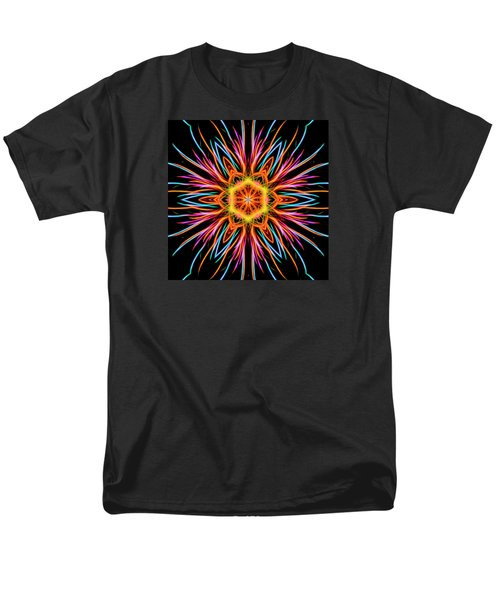 Fireworks Mandala #1 Men's T-Shirt  (Regular Fit) by Yulia Kazansky