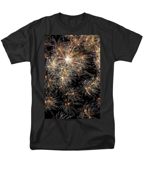 Men's T-Shirt  (Regular Fit) featuring the photograph Fireworks by Suzanne Stout