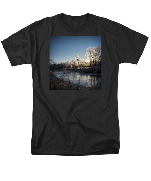 Men's T-Shirt  (Regular Fit) featuring the photograph First Frost by Annette Berglund