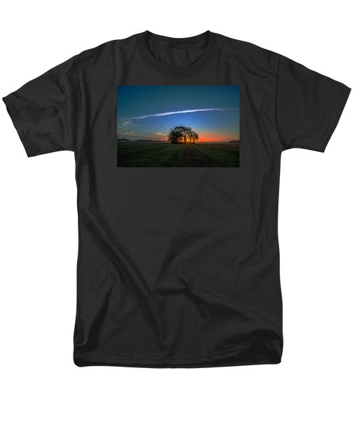 Men's T-Shirt  (Regular Fit) featuring the photograph First Light At Center Grove by John Harding
