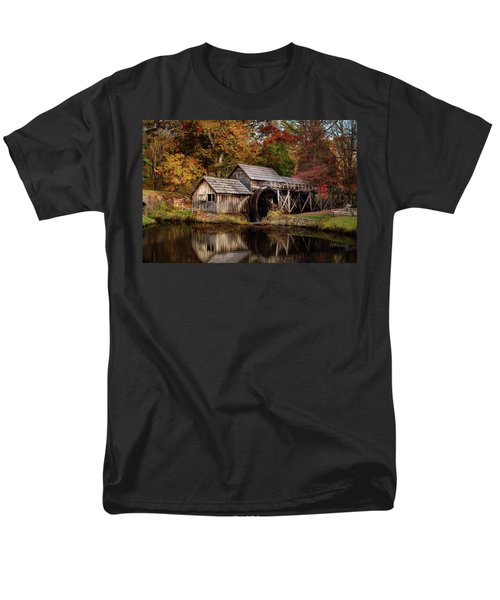First Light At Mabry Mill Men's T-Shirt  (Regular Fit) by Deborah Scannell