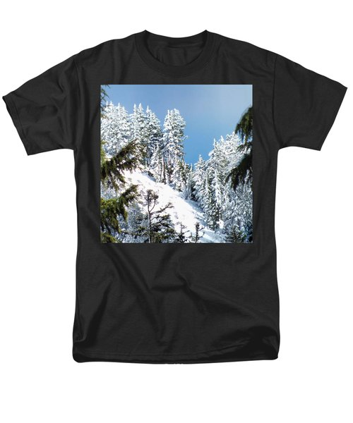 Men's T-Shirt  (Regular Fit) featuring the photograph First November Snowfall by Wendy McKennon