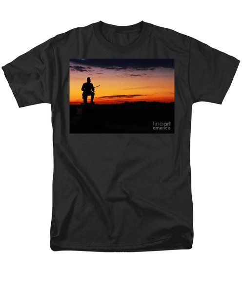 First Pennsylvania Cavalry Sunrise Gettysburg Men's T-Shirt  (Regular Fit) by Randy Steele