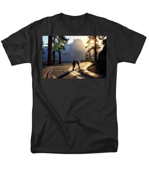 First Tracks Men's T-Shirt  (Regular Fit) by Nicki Frates