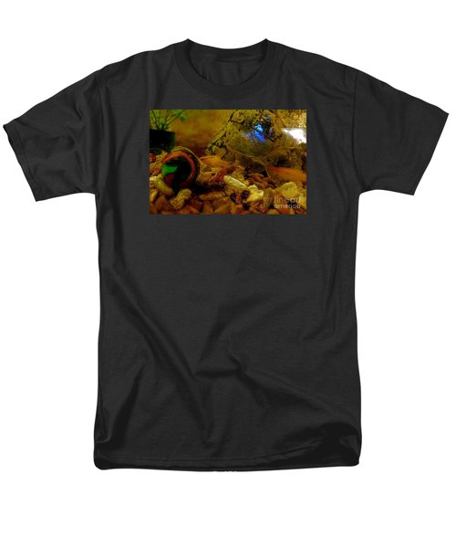 Men's T-Shirt  (Regular Fit) featuring the photograph Fish Tank Abstract by Cassandra Buckley
