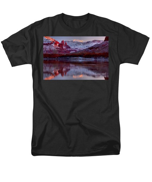 Men's T-Shirt  (Regular Fit) featuring the photograph Fisher Towers Landscape Glow by Adam Jewell