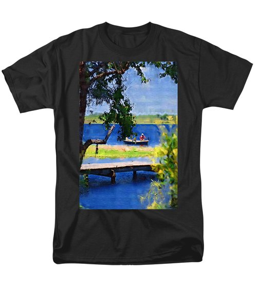 Men's T-Shirt  (Regular Fit) featuring the photograph Fishin by Donna Bentley