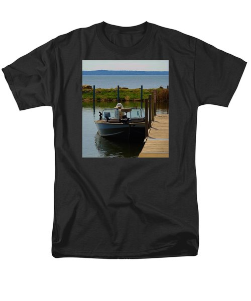 Men's T-Shirt  (Regular Fit) featuring the photograph Fishing Boat by Ramona Whiteaker