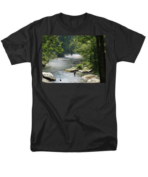 Men's T-Shirt  (Regular Fit) featuring the photograph Fishing The Gunpowder Falls by Donald C Morgan