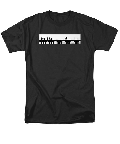Fishing The San Francisco Skyline Men's T-Shirt  (Regular Fit) by Steve Siri