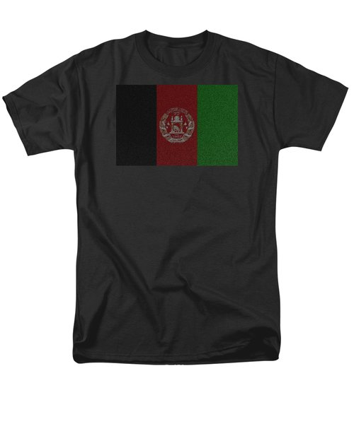 Men's T-Shirt  (Regular Fit) featuring the digital art Flag Of Afghanistan by Jeff Iverson