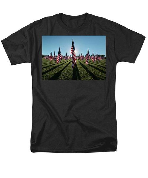 Flags Of Valor - 2016 Men's T-Shirt  (Regular Fit) by Rau Imaging