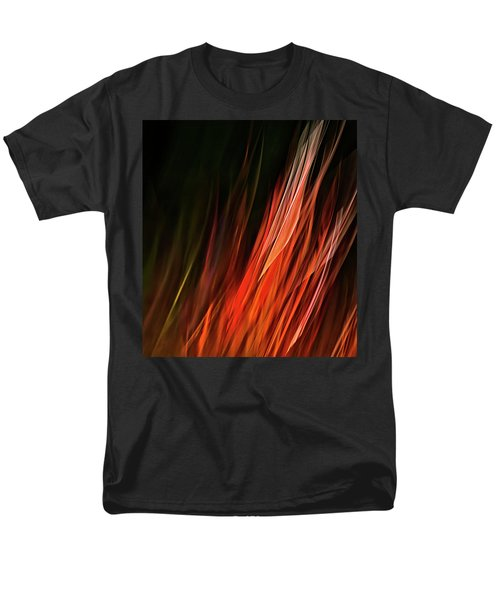 Flame Grass  Men's T-Shirt  (Regular Fit) by Theresa Tahara