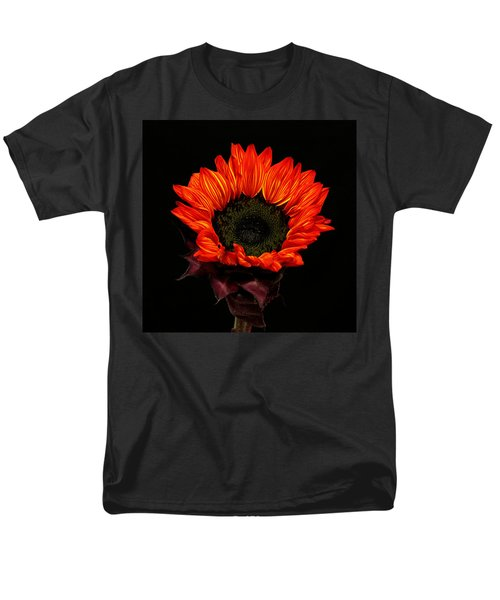 Men's T-Shirt  (Regular Fit) featuring the photograph Flaming Flower by Judy Vincent