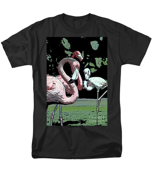 Men's T-Shirt  (Regular Fit) featuring the photograph Flamingos II by Jim and Emily Bush