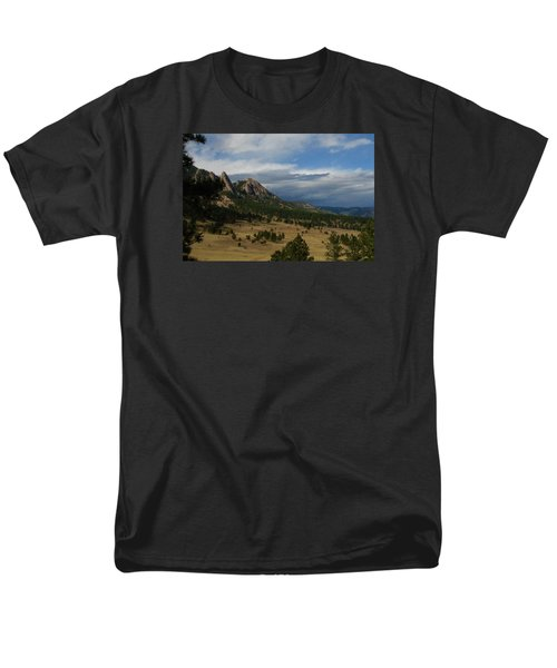 Flatirons, Boulder, Colorado Men's T-Shirt  (Regular Fit) by Christopher Kirby
