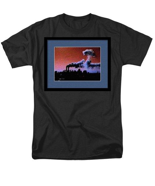 Men's T-Shirt  (Regular Fit) featuring the digital art Flight 175 Mushroom Cloud Framed Example by James Kosior