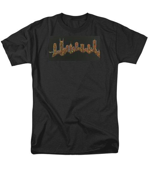 Floating Nashville Skyline Bl Men's T-Shirt  (Regular Fit) by Helen Prater