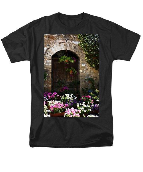 Floral Adorned Doorway Men's T-Shirt  (Regular Fit)
