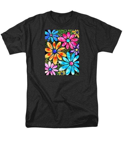 Floral Art - Big Flower Love - Sharon Cummings Men's T-Shirt  (Regular Fit) by Sharon Cummings