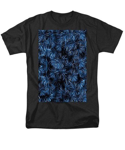 Floral Blue Abstract Men's T-Shirt  (Regular Fit) by David Dehner
