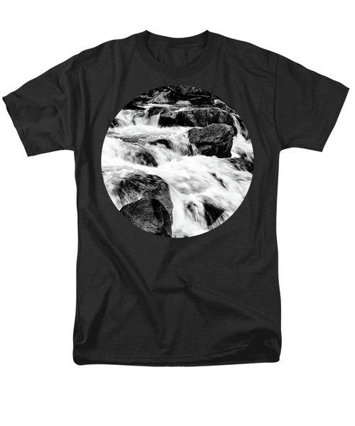 Flow, Black And White Men's T-Shirt  (Regular Fit) by Adam Morsa