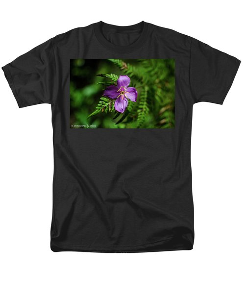 Flower On The Fern Men's T-Shirt  (Regular Fit) by Stefanie Silva