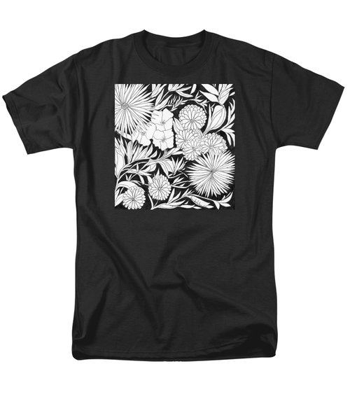 Men's T-Shirt  (Regular Fit) featuring the painting Flowers 3 by Lou Belcher