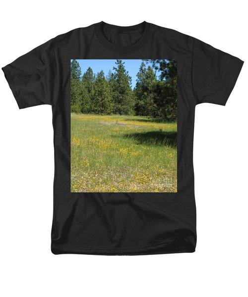 Flowers At Fish Hatchery Men's T-Shirt  (Regular Fit)
