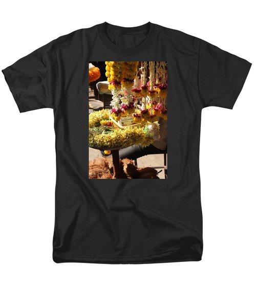 Flowers In The Market, Near Sajjangad 2 Men's T-Shirt  (Regular Fit) by Jennifer Mazzucco