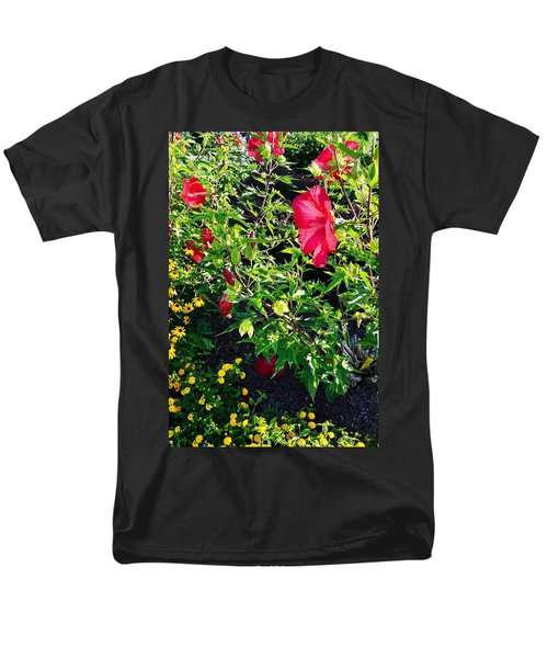 Flowers Of Bethany Beach - Hibiscus And Black-eyed Susams Men's T-Shirt  (Regular Fit)