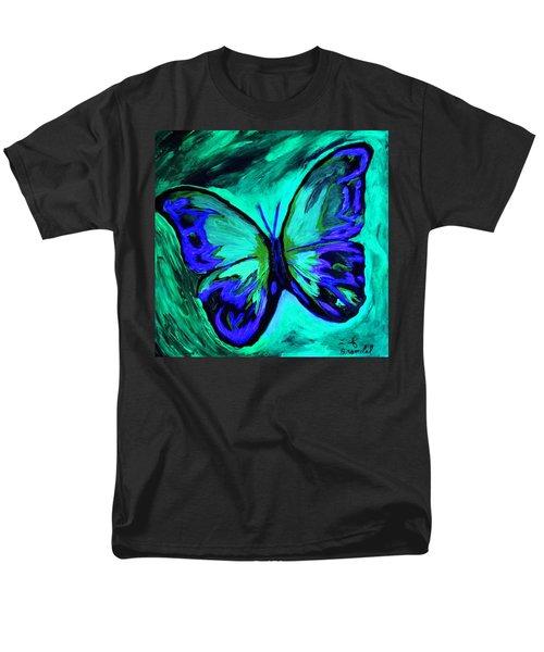 Flutterby Brings The Light Through Dark Men's T-Shirt  (Regular Fit) by Lisa Brandel