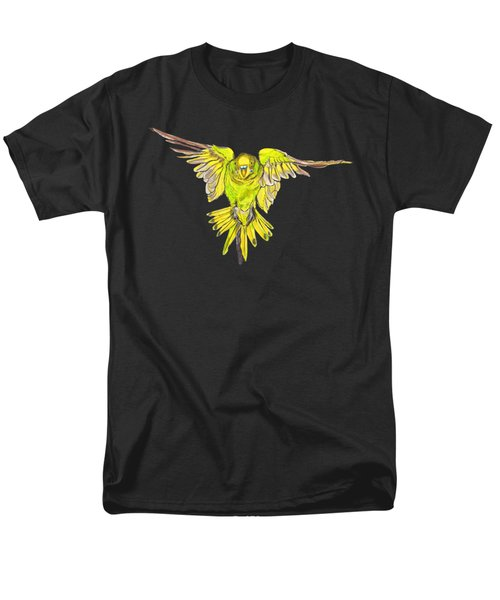 Flying Budgie Men's T-Shirt  (Regular Fit) by Lorraine Kelly