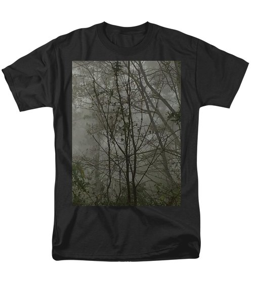 Foggy Woods Photo  Men's T-Shirt  (Regular Fit) by Gina O'Brien