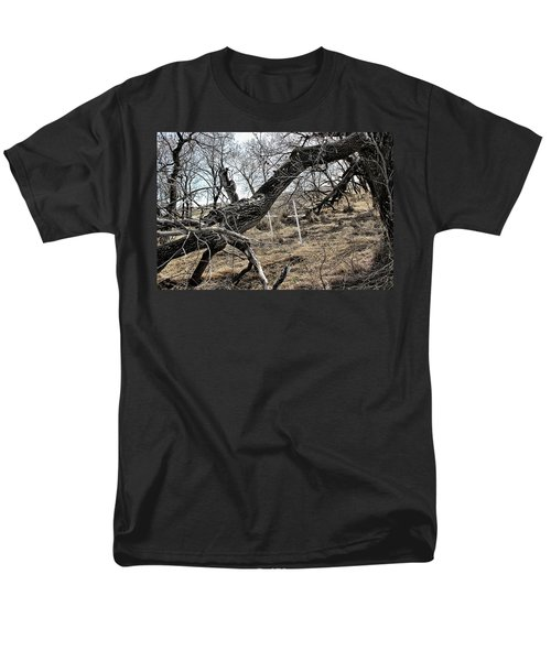 Men's T-Shirt  (Regular Fit) featuring the photograph Fone Hill Cemetery  by Ryan Crouse