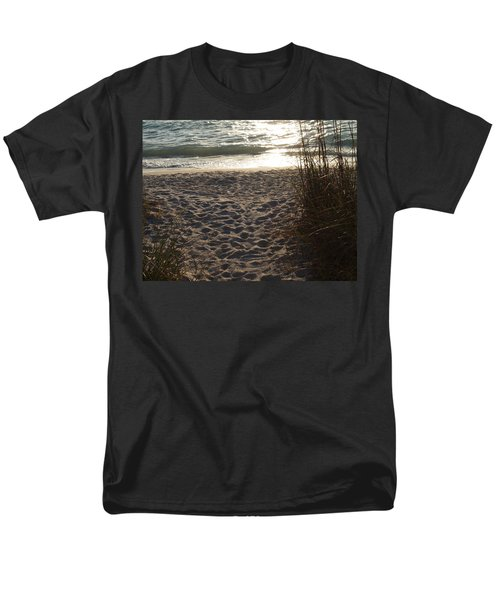 Men's T-Shirt  (Regular Fit) featuring the photograph Footprints In The Dunes by Robert Margetts