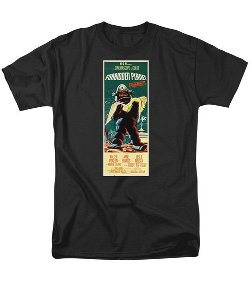 Forbidden Planet In Cinemascope Retro Classic Movie Poster Portraite Men's T-Shirt  (Regular Fit)