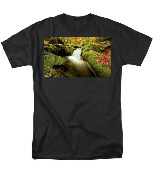Men's T-Shirt  (Regular Fit) featuring the photograph Forest Stream by Jorge Maia
