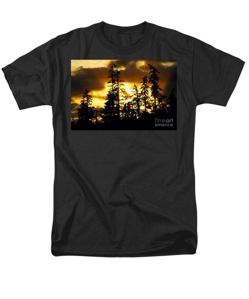 Men's T-Shirt  (Regular Fit) featuring the photograph Forest Sunset  by Nick Gustafson