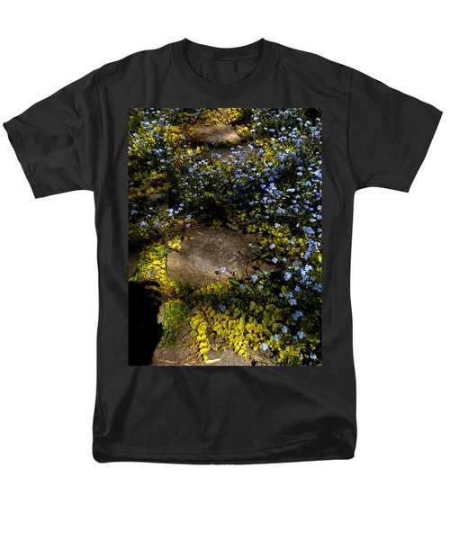 Men's T-Shirt  (Regular Fit) featuring the painting Forget-me-nots 1 by Renate Nadi Wesley